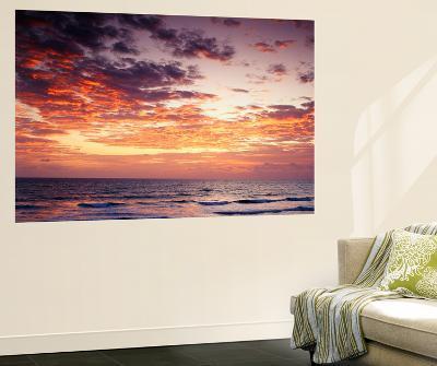 View of Sunrise over Atlantic Ocean, Florida, USA-Adam Jones-Wall Mural