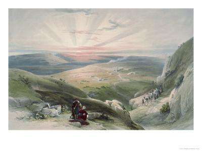 View of Sunset, Cana-David Roberts-Giclee Print