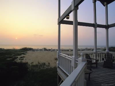 View of Sunset from the Deck of a Beach Cottage-Steve Winter-Photographic Print