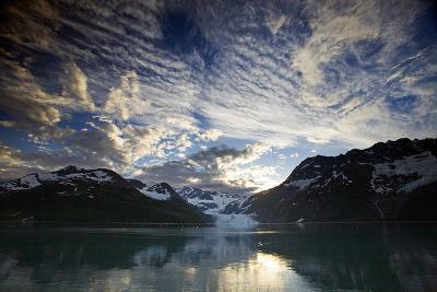 View of Surprise Glacier at Sunset Harriman Fjord Pws Southcentral Alaska Summer-Design Pics Inc-Photographic Print