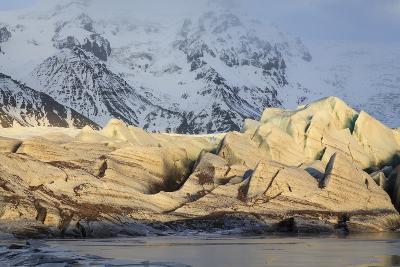 View Of Svinafellsjokull Glacier At Sunset. Vatnajokull National Park. Iceland-Oscar Dominguez-Photographic Print