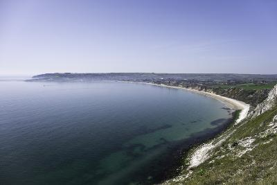 View of Swanage Bay from the Coastal Footpath in Dorset, England, United Kingdom-John Woodworth-Photographic Print