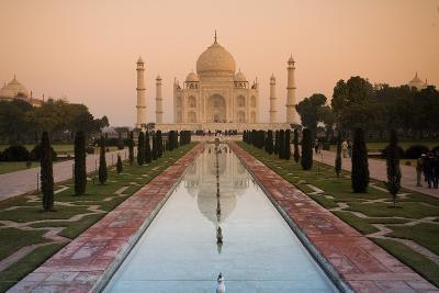 View of Taj Mahal Reflecting in Pond; Taj Mahal, Agra, India-Design Pics Inc-Photographic Print