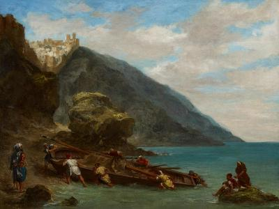 View of Tangier from the Seashore, 1856-8-Eugene Delacroix-Giclee Print