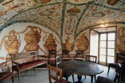 View of Tea Room, Masino Castle, Caravino, Piedmont, Italy--Giclee Print