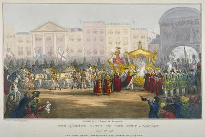 View of Temple Bar During Queen Victoria's Visit to the City of London in 1837-W Clerk-Giclee Print