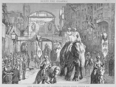 View of Temple Bar During the Lord Mayor's Day, City of London, 1876--Giclee Print
