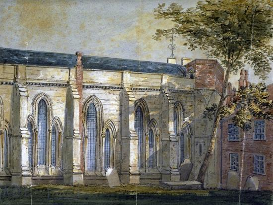 View of Temple Church, London, C1810-William Pearson-Giclee Print