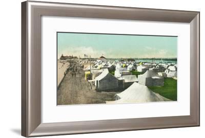 View of Tent City - Coronado, CA-Lantern Press-Framed Art Print