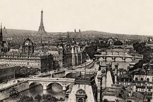 View of the 8 Bridges, Paris, 1890