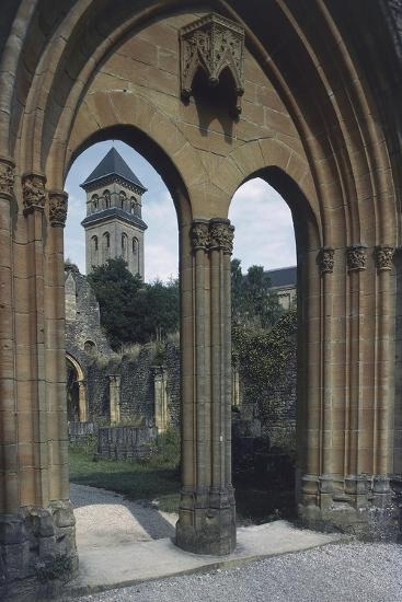 View of the Abbey of Notre-Dame D'Orval--Giclee Print