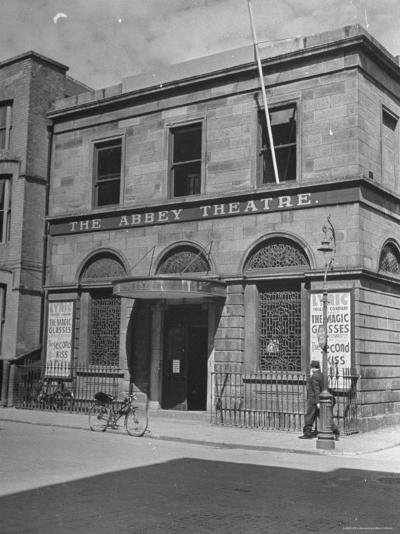 View of the Abby Theater in Dublin-Hans Wild-Photographic Print