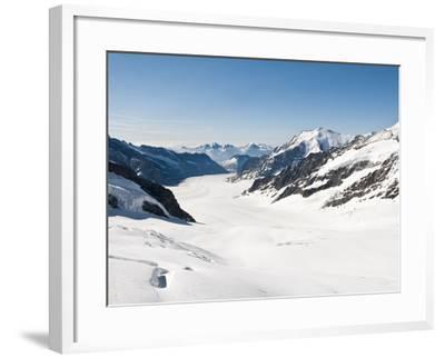 View of the Aletsch Glacier From Jungfraujoch, Jungfrau Region, Switzerland, Europe-Michael DeFreitas-Framed Photographic Print