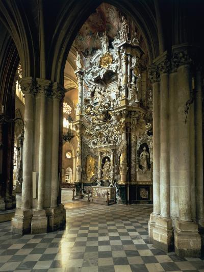 """View of the Altar and the """"Transparente"""", circa 1720-Narciso Tome-Giclee Print"""