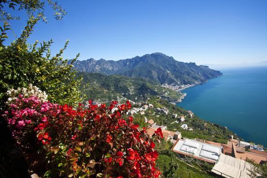 View of the Amalfi Coast from Villa Rufolo in Ravello, Italy-Terry Eggers-Photographic Print