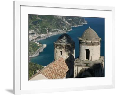 View of the Amalfi Coastline from Villa Rufolo, Ravello, Campania, Italy-Walter Bibikow-Framed Photographic Print