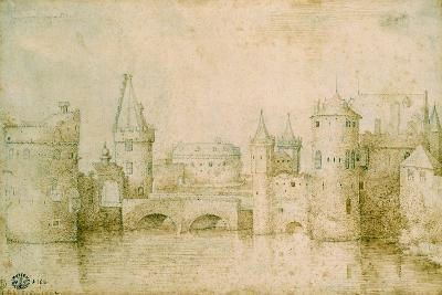 View of the Ancient Fortifications of Amsterdam, Netherlands, 1562-Pieter Bruegel the Elder-Giclee Print