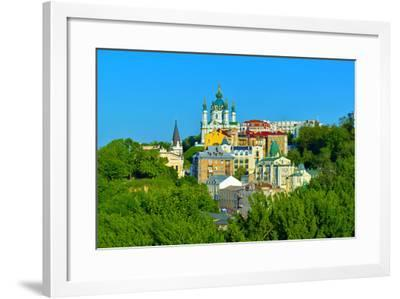 View of the Andrew's Descent in Kiev-connect1-Framed Photographic Print