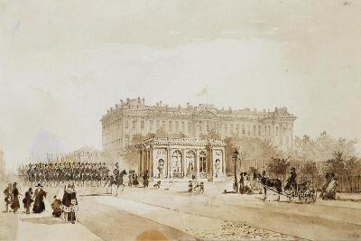 View of the Anichkov Palace in St Petersburg, 1843-Johann Baptist Weiss-Giclee Print