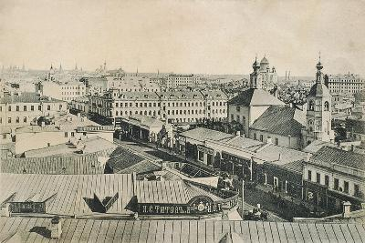 View of the Arbat in Moscow, Russia, Late 19th or Early 20th Century--Giclee Print