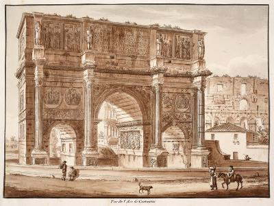 View of the Arch of Constantine, 1833-Agostino Tofanelli-Giclee Print