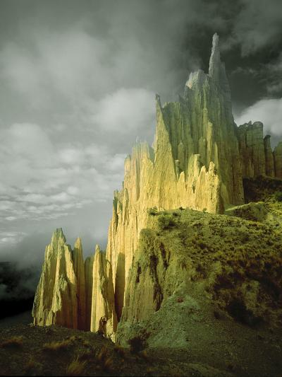 View of the Badlands Above La Paz, Bolivia-Jim Zuckerman-Photographic Print