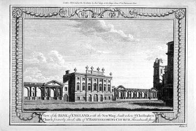 View of the Bank of England Showing the New Wing, 1790-John Peltro-Giclee Print