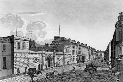 View of the Bank of France from the Rue Croix-Des-Petits-Champs, 1800-Henri Courvoisier-Voisin-Giclee Print