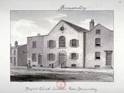 View of the Baptist Chapel on Jamaica Row, Bermondsey, London, 1826-John Chessell Buckler-Giclee Print