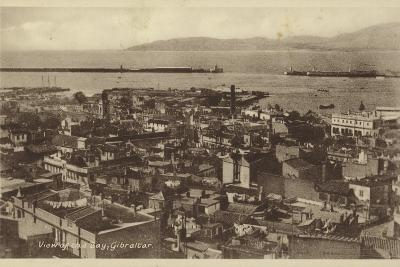 View of the Bay, Gibraltar--Photographic Print