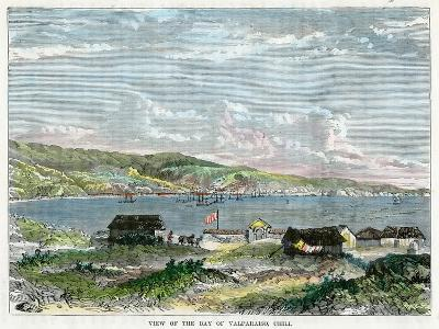 View of the Bay of Valparaiso, Chili, C1880--Giclee Print