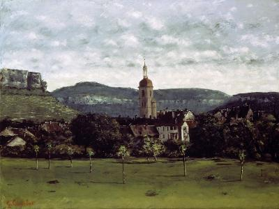 View of the Bell Tower of Ornans, C. 1858-Gustave Courbet-Giclee Print