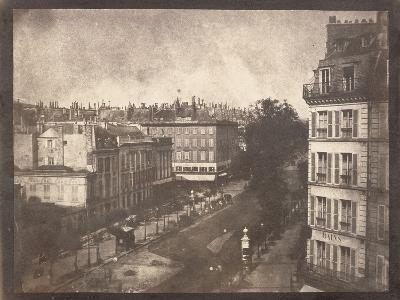 View of the Boulevards of Paris by William Henry Fox Talbot--Photographic Print