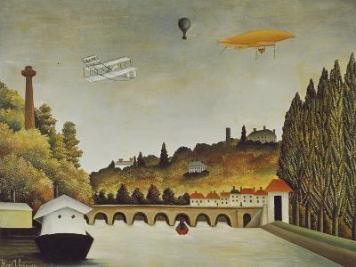 View of the Bridge at Sevres and the Hills at Clamart, St, Cloud, 1908-Henri Rousseau-Giclee Print