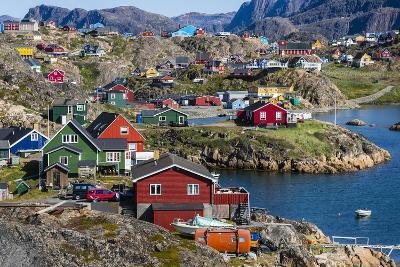 View of the Brightly Colored Houses in Sisimiut, Greenland, Polar Regions-Michael Nolan-Photographic Print
