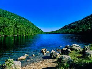View of the Bubble Pond, Acadia National Park, Maine, USA