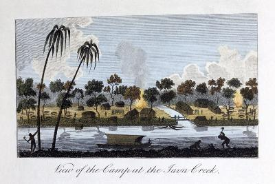 View of the Camp at the Java Creek, 1813-John Gabriel Stedman-Giclee Print