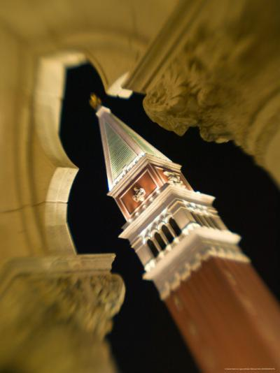 View of the Campanile, The Venetian Casino, Las Vegas, Nevada, USA-Walter Bibikow-Photographic Print