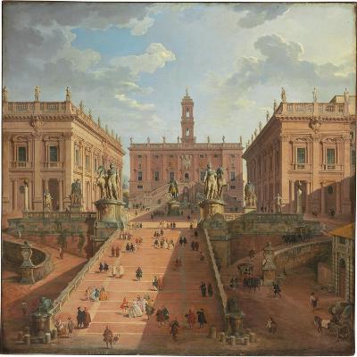 View of the Campidoglio, Rome, 1750-Giovanni Paolo Pannini-Giclee Print