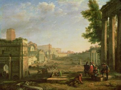 View of the Campo Vaccino, Rome-Claude Lorraine-Giclee Print