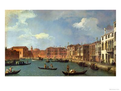 View of the Canal of Santa Chiara, Venice-Canaletto-Giclee Print