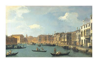 View Of The Canal Of Santa Chiara-Canaletto-Premium Giclee Print