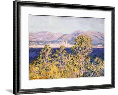 View of the Cap D'Antibes with the Mistral Blowing, 1888-Claude Monet-Framed Giclee Print