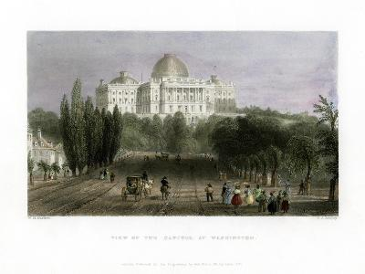 View of the Capitol at Washington, USA, 1837-CJ Bentley-Giclee Print