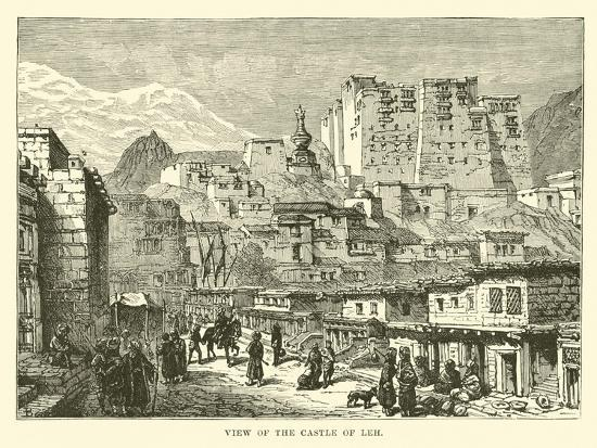 View of the Castle of Leh--Giclee Print