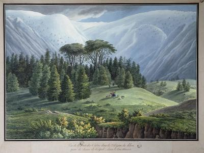 View of the Cedar Forests of Lebanon Seen from the Tripoli Road, C.1800-Louis-Francois Cassas-Giclee Print