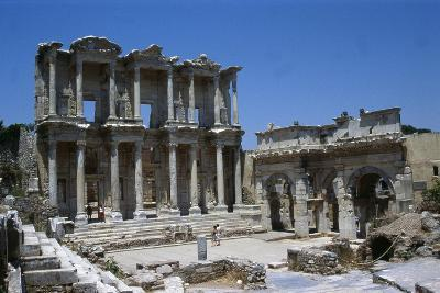 View of the Celcius Library at Ephesus, the Second Largest Library of the Ancient World after…--Giclee Print