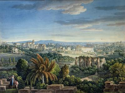 View of the Celian Hill, Rome, C.1800-Louis-Francois Cassas-Giclee Print