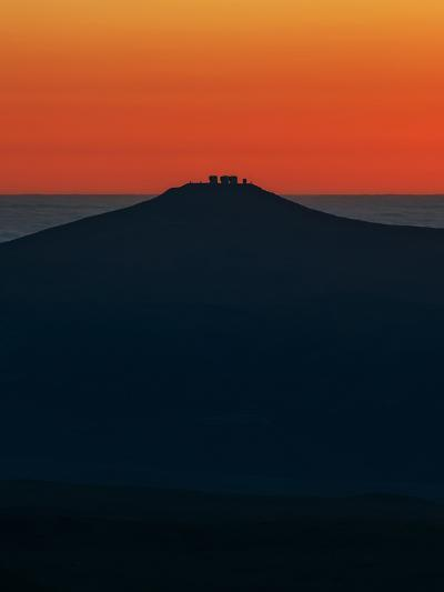View of the Cerro Paranal Observatory's Silhouette Against the Sunset-Babak Tafreshi-Photographic Print