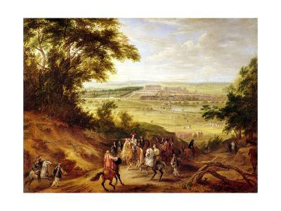 View of the Chateau De Versailles from the Heights of Satory, 1664-Adam Frans van der Meulen-Giclee Print